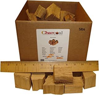 CharcoalStore White Oak Wood Smoking Chunks - No Bark (5 Pounds)