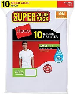 Hanes Mens Super Value 10-Pack ComfortSoft Crewneck