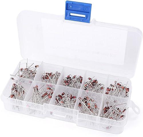 lowest Mallofusa 1W Zener sale Diode Assorted Kit, 8.2V-22V, 10Value x lowest 20pcs 1N4738~1N4748 Diode Assortment Kit online sale