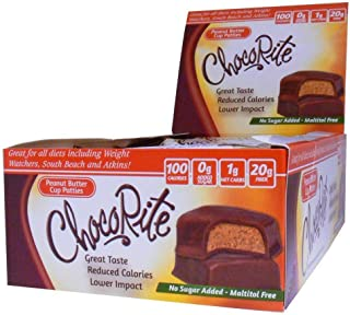 ChocoRite - Diet Peanut Butter Cup Patties - 16/Box - High Fiber - Low Calorie - No Sugar Added
