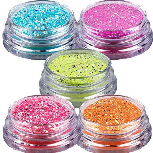 Poudre à paillettes éclat de la nuit ensemble 5x 2g - Glitter powder night shine Set 5x 2g
