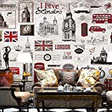 3D Wall Murals Non-Woven City Of London Modern Wall DecorationWall Mural for Living Room Bedroom Office Corridor Decoration Murals Modern Wall Decoration-400x280 Cm (WxH)