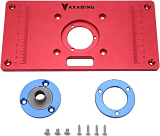 Router Table Insert Plate Aluminum Red Board Universal Trimming Machine Flip Board for Woodworking, 62x70mm (Universal type)