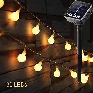 سلسلة أضواء جلاكلوز خارجية عاملة بالطاقة الشمسية، 30 مصباح ليد داخلياً مذهلاً يشع دفئاً للمنزل وغرفة النوم والحديقة، للاحتفالات والمناسبات وحفلات الزفاف, اصفر, A