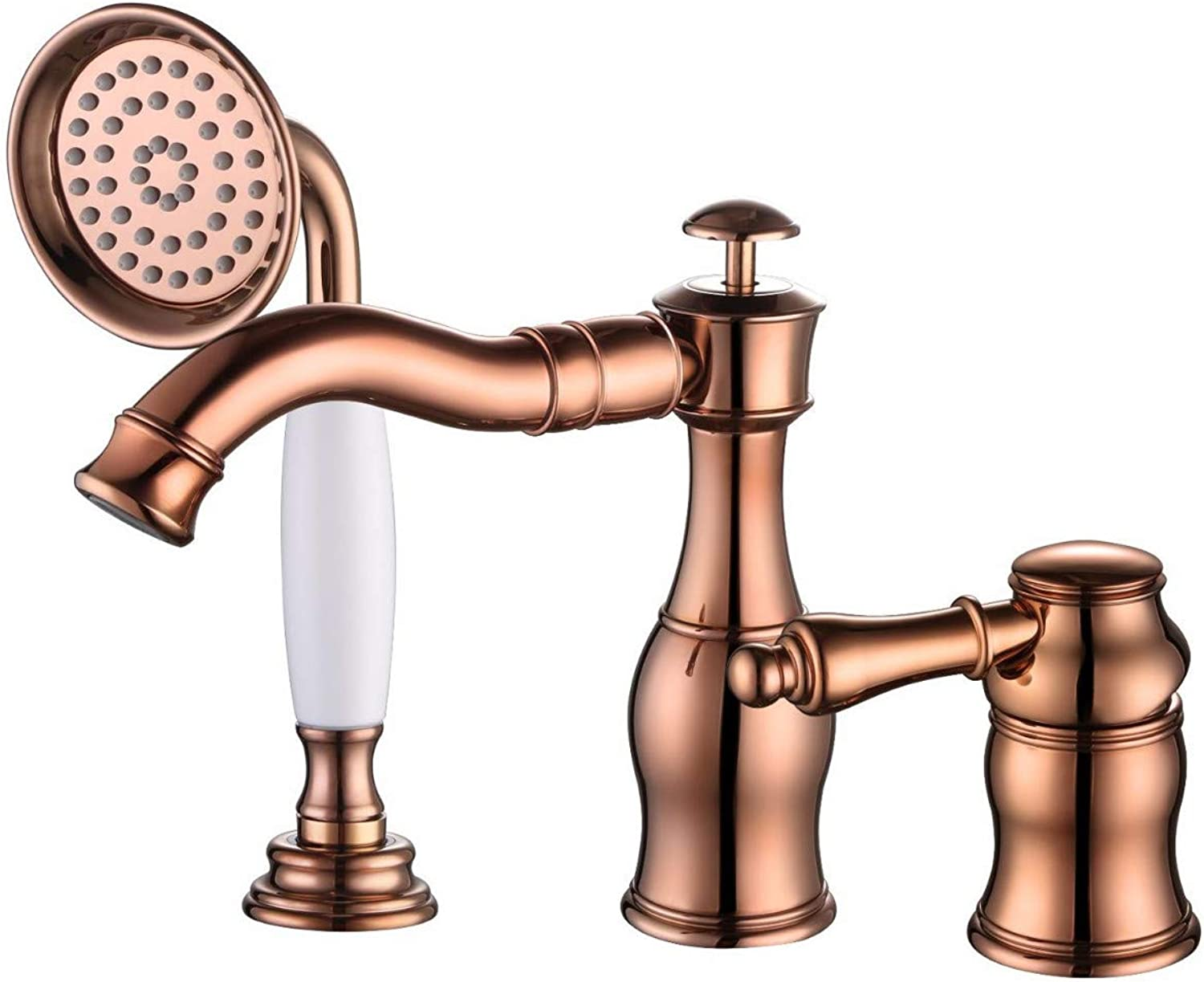 redOOY Taps Faucet Basin Faucet Antique Basin With Pull-Out Small Shower All Copper Hot And Cold Water Faucet C
