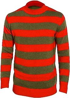 New Kids Boys Red Green Stripe Fancy Dress Nightmare Elm Horror Halloween Jumper