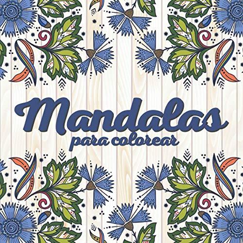 Mandalas para colorear: libro para colorear para adultos y niños para reducir el estrés y la ansiedad - formato cuadrado