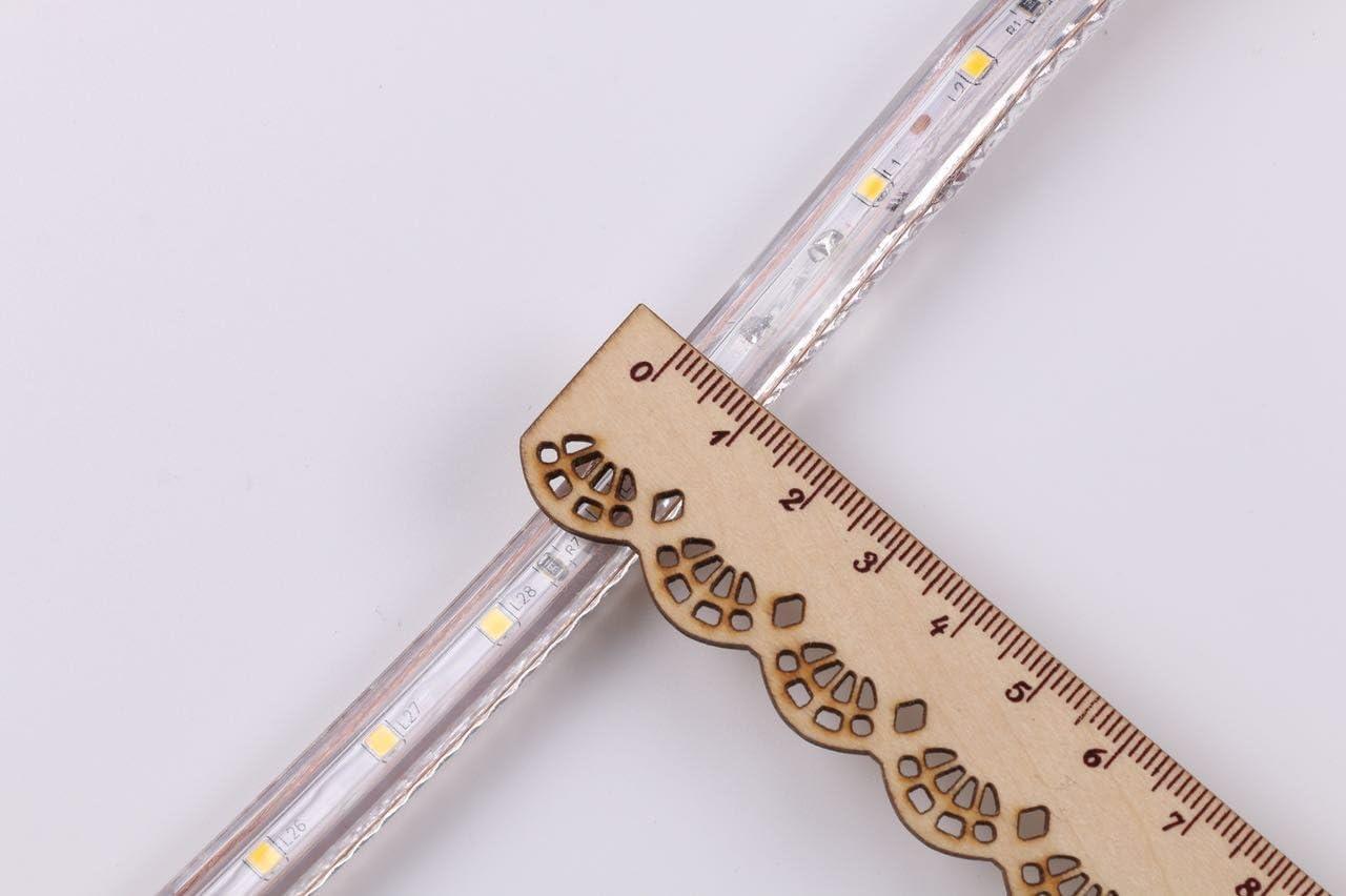 LED Streifen Warmweiß | LED Dimmbar | LED Band 230V | LED Lichtband außen | Wasserdicht nach IP68 | Energiesparend |25m 3m