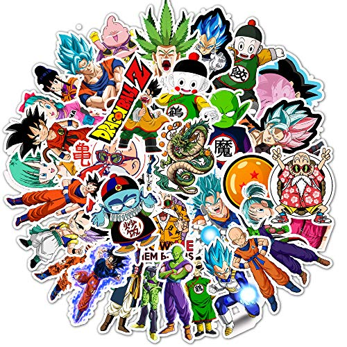 Anime Dragon Ball Z Stickers for Laptop 50pcs Cartoon Cute Animal Monsters Super Z Waterproof Vinyl Graffiti Stickers for Water Bottle Bike Car Bumper Luggage Skateboard Helmet Best for Kids