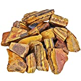 mookaitedecor 1 lb Bulk Natural Tiger's Eye Raw Crystals Rough Stones for Tumbling,Cabbing,Polishing,Wire Wrapping,Wicca & Reiki Crystal Healing