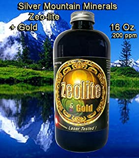 Zeo-Lite 16 Oz, Silver Mountain Minerals, (Medical Purity Most Bioavailable 200 ppm colloidally Suspended with Gold Nano particulates)