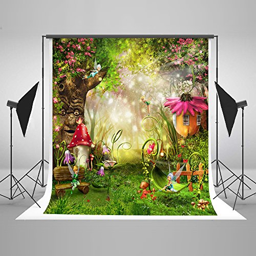 Kate 5×7ft(1.5×2.2m) Fondo de Hadas Jardín Foto Fondo de Bosque de Ensueño Bosque Mágico Photo Booth Atrezzo para Baby Shower Niños Fotografía