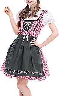 BOZEVON Mujer Uniforme Vestido de Oktoberfest Traje