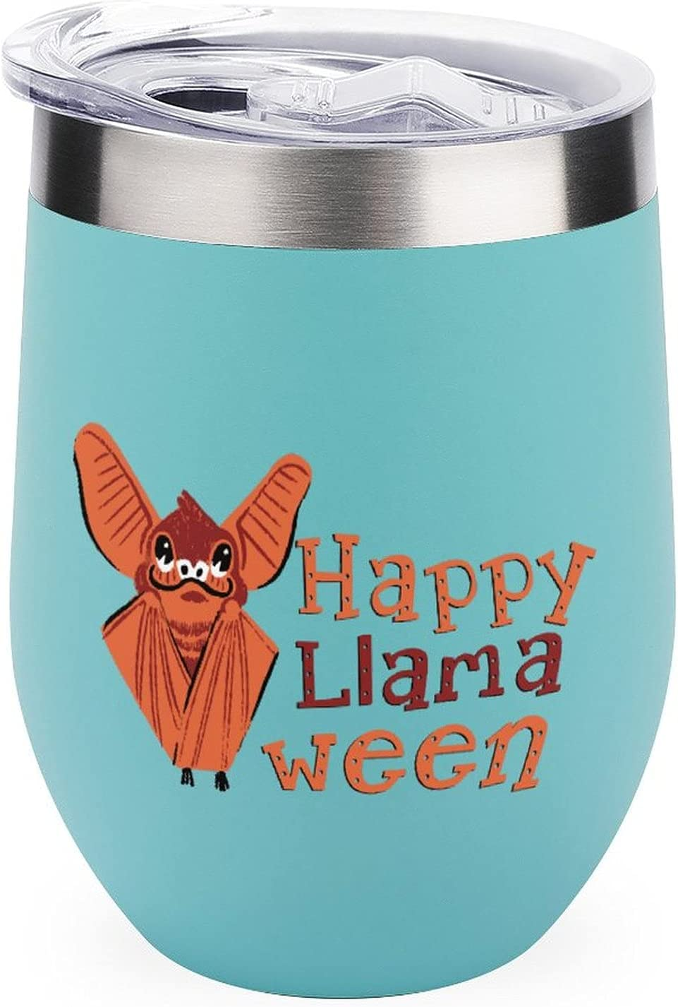 Anyuwerw Insulated Wine Tumbler with Happy Save Max 54% OFF money Hallowe Llamaween Lid