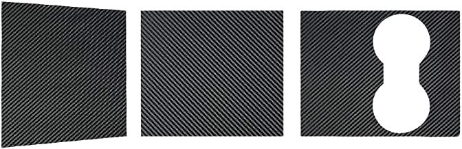 Moshbu Car Door Handle Wrap Kit For Model X 3D Epoxy Carbon Fiber Pattern Protector Sticker