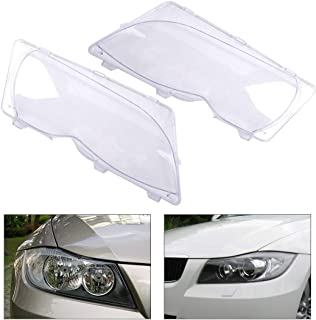 63126924045 63126924046 2Pcs Clear Headlight Lamp Lens Cover For Bmw 3 Series E46 325I 325Xi 330I 330Xi 2001-2004 2005