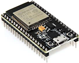 HiLetgo ESP-WROOM-32 ESP32 ESP-32S Development Board 2.4GHz Dual-Mode WiFi + Bluetooth Dual Cores Microcontroller Processor Integrated with Antenna RF AMP Filter AP STA for Arduino IDE