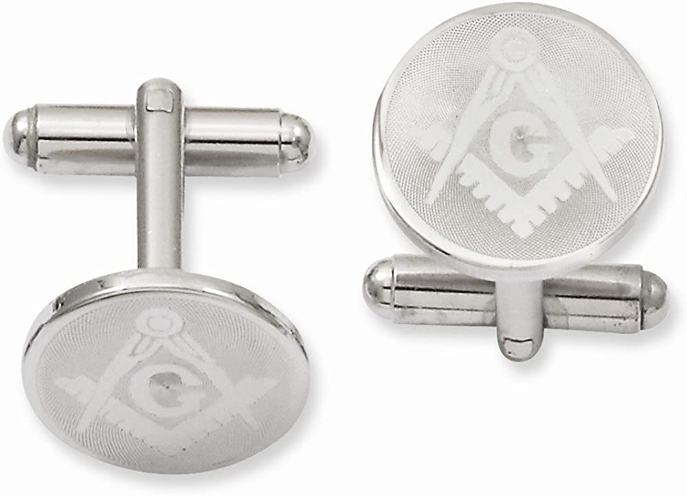 ICE CARATS Kelly Waters Round Masonic Freemason Mason Cuff Links Mens Cufflinks Link Collar Stay Fashion Jewelry for Dad Mens Gifts for Him