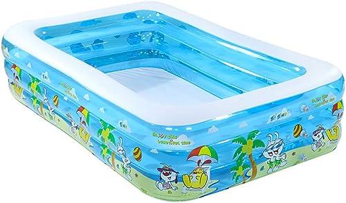 SLONG Aufblasbarer Pool, Aufblasbarer Pool für Erwachsene für das Sommerfest, Rechteckiger Familienpool für Kinder, überGröße, ab 3 Jahren,L350(cm)