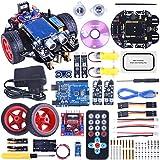 Longruner para ArduinoIDE Robot Kit Car Smart DIY Learning Starter Kit Robot Inteligente con ArduinoIDE Board, Sensor Ultrasónico, Link Tracking Module de Enlaces para niños con Tutorial LQS10