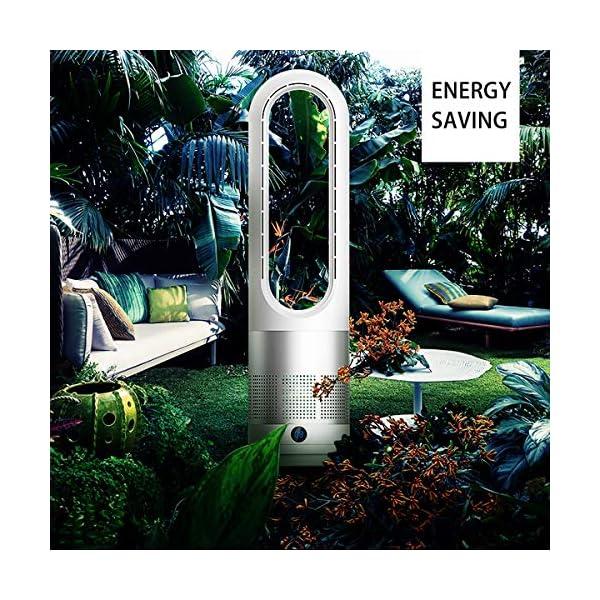 Bospyaf-Ventilador-sin-Hojas-Refrigerador-de-Aire-de-Seguridad-con-Iones-Negativos-circulacin-de-Aire-para-Ventilador-de-Torre-de-pie-para-hogar-Oficina-DormitorioPlata