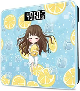 SHHDD Electronic Scale Weight Scale Girl's Room Precision Electronic Scale Body Scale USB Charging Health Scale Floor Weig...