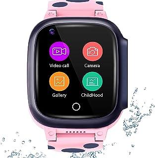 shjjyp Smartwatchreloj Inteligente Nino con GPS Reloj Inteligente NiñA Ip67 Lbs Hacer Llamada Chat De Voz Sos Modo De Clas...