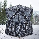 MASTERCANOPY Pop Up Hunting Ground Blind for 2-4 Persons (White Camouflage)