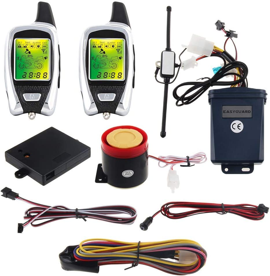 2021 spring and summer new EASYGUARD EM209 2 Way Motorcycle System with Super special price Remote Alarm Engine