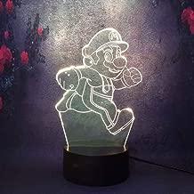 New 3D LED Night Light Lava Mario House Decoration Super Gift for Children Baby Sleep Lamp Nursery Light Desk Table Lamp