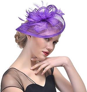 meilleur endroit les dernières nouveautés styles frais Amazon.fr : Chapeau Bibi Mariage - Violet : Vêtements