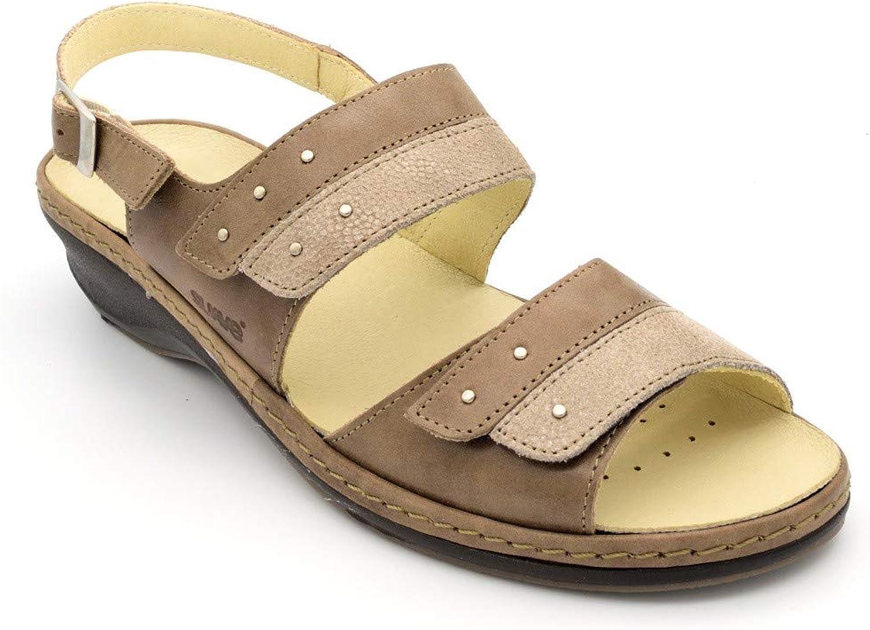 Doppelte Klettverschluss-Sandale für weiche Einlegesohlen M-3034 Weiß  | Mittlere Kosten  | Shop