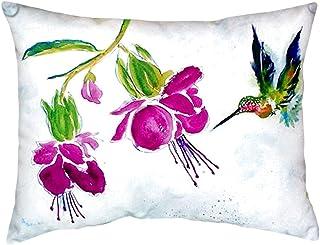 "Betsy Drake NC940 Purple Hummingbird No Cord Pillow,,16"" X20"""
