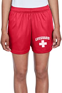 LIFEGUARD Officially Licensed Womens Active Running Performance Shorts Moisture Wicking
