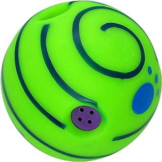 FLAMEER Wobble Grinçante Balle avec Drôle Rire Sons Interactive Chien Jouets Faire Noisies Jouer des Animaux et Formation ...