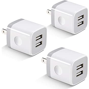 Samsung 4-Pack 2.1A Dual Port USB Cube Power Adapter Wall Charger Plug Charging Block Compatible with Phone Xs Max//Xs//XR//X//8//7//6S//6 Plus X-EDITION USB Wall Charger Black Android Phone Pad