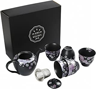 Seb's Kitchen Japanese Handcrafted Cherry Blossom 6pc Tea Gift Set