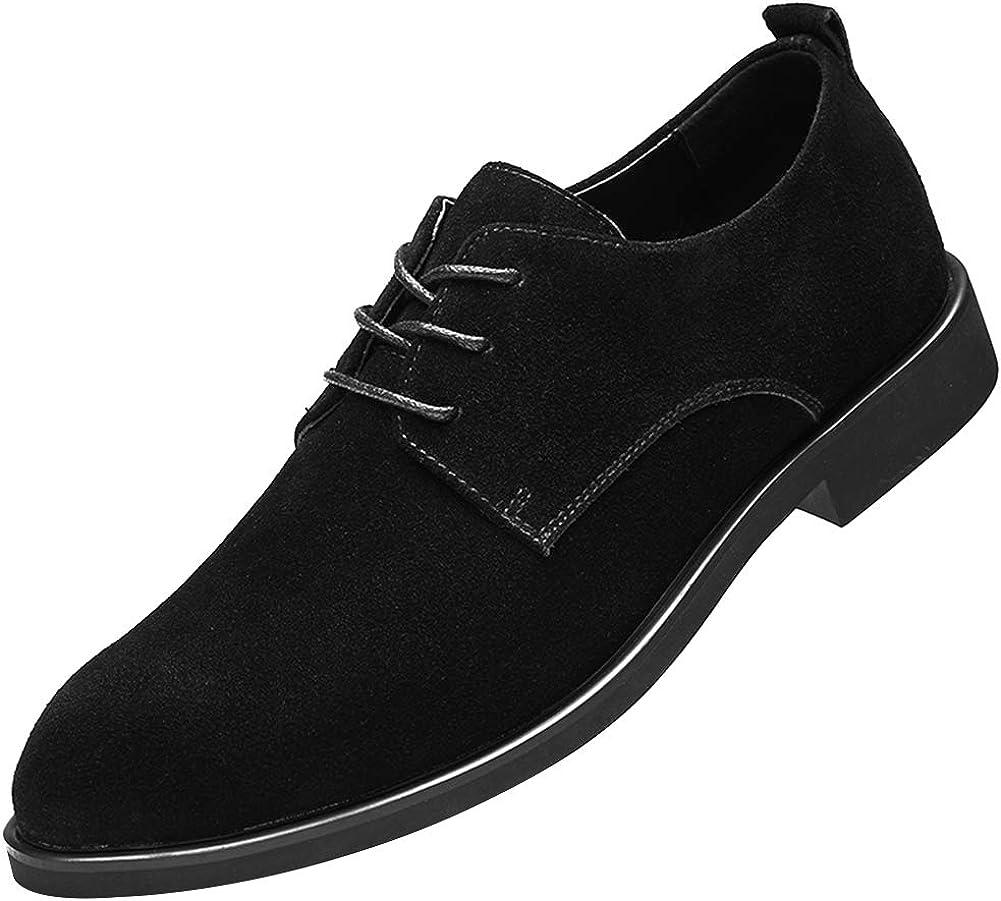 rismart Men's Suede Oxford Dress Shoes Business Casual Shoes