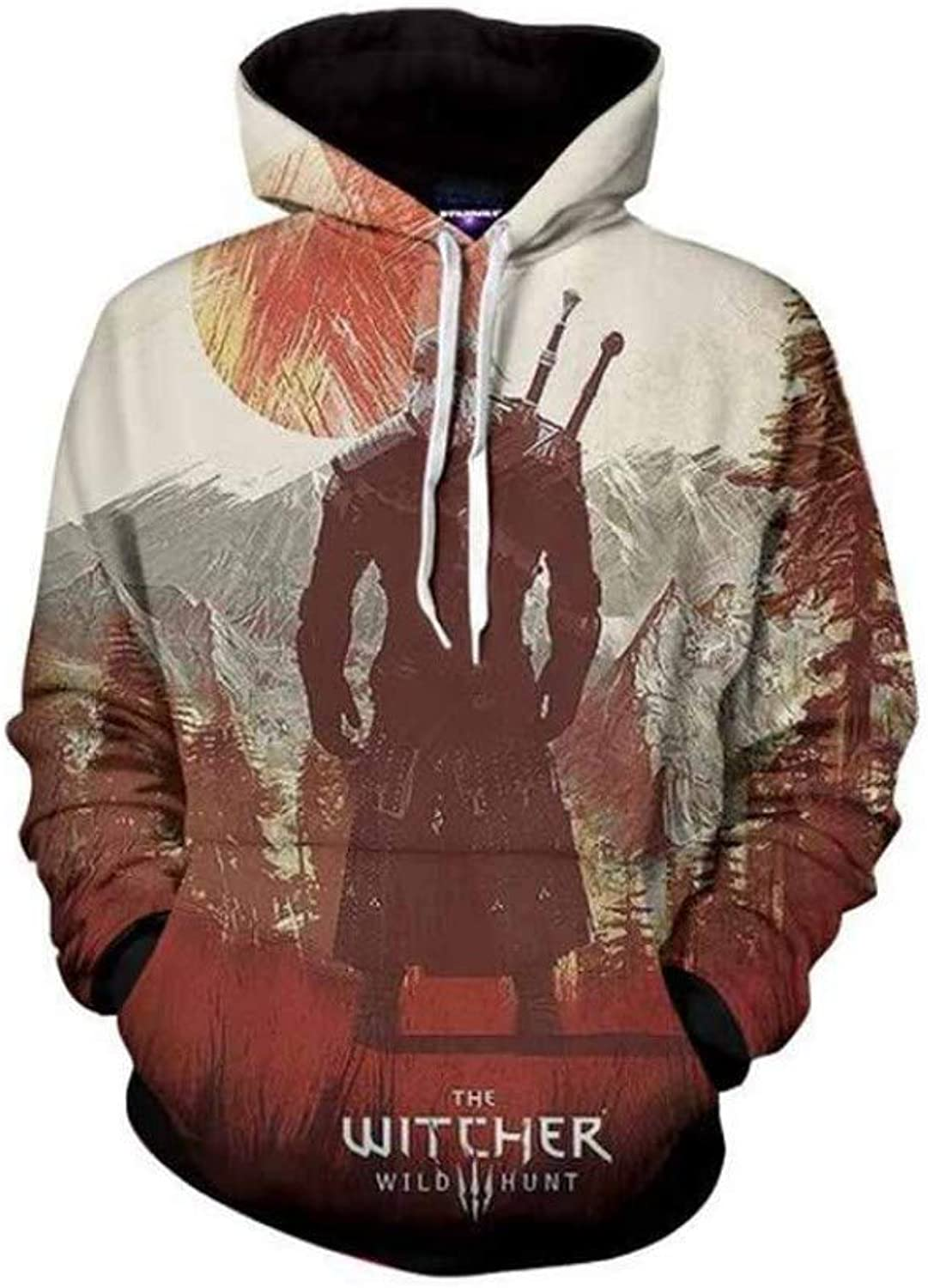 3D Digital Printed Hooded Sweater Simple Style Men and Women Casual Sports Warm Hoodie