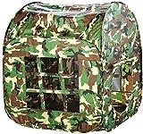 Enfants Camouflage Tente, Enfants Jeu Tente Intérieur Extérieur Camping Cabane Tente Camouflage Design Jardin Jouets pour Garçons Filles Jeu Jouets - Camouflage