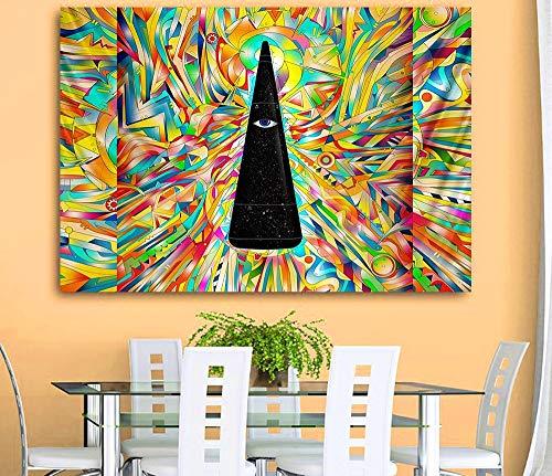 KHKJ Tapiz psicodélico Serie Estilo Bohemio Estera de Yoga para el hogar decoración de Fondo Tela decoración de cabecera A4 200x150cm
