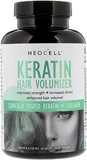 Keratin + BioActive Collagen 1&3 Hair Volumizer Biotin Vitamin C 60 Capsules