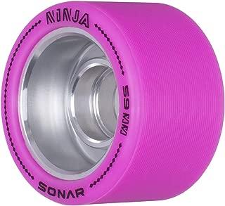 Sonar Wheels - Ninja - Agile Roller Skate Wheels - 4 Pack of 59mm x 38mm Wheels
