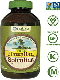 Pure Hawaiian Spirulina Powder 16 Ounce  - Natural Premium Spirulina from Hawaii - Vegan, Non-GMO, Non-Irradiated - Superfood Supplement & Natural Multivitamin
