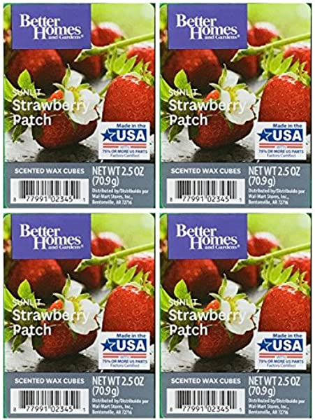 Better Homes And Gardens Sunlit Strawberry Patch Scented Wax Cubes 4 Pack