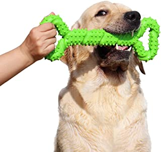 LECHONG Durable Dog Chew Toys 13 Inch Bone Shape Extra Large Dog Toys with Convex Design Strong Tug Toy for Aggressive Chewers Medium and Large Dogs Tooth Cleaning