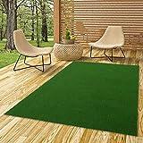 Snapstyle Kingston - Alfombra de césped Artificial - para Jardín, Terraza, Balcón - Verde - 13 tamaños