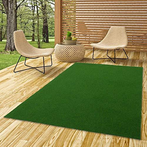 Snapstyle Kingston - Tappeto in Erba Artificiale - per Giardino, Terrazza, Balcone - Verde - 13 Dimensioni