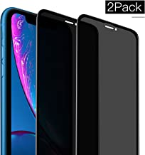 Privacy Screen Protector for iPhone XR, [2-Pack] Full Coverage Anti-Spy Anti-Scratch/Fingerprint Tempered Glass Film Shield for Apple iPhone XR 6.1 inch