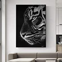 Mural Black White Tiger Paint On Canvas Paintings Home Decor for Living Room Decoration Modern Art Animal Picture Wall Art...